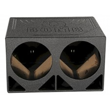 "Rockville RQ12TB Dual 12"" Triangle Ported Subwoofer Sub Box Bed Lined Enclosure"