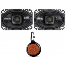 2 Polk Audio DB462 4x6 300w Car/Marine/ATV/Motorcycle Speakers+Speaker