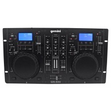 Gemini CDM-4000 2 Ch. Dual DJ Mixer Media Player System+MP3/CD/USB
