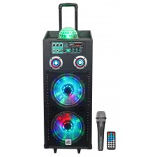 "NYC Acoustics N210AR Dual 10"" 600w Rechargeable Powered Bluetooth Party Speaker"