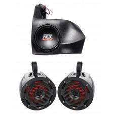 2012-2016 CAN-AM Commander/Maverick Non-X3 Powered MTX Subwoofer+Box+Speakers