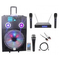 "NYC Acoustics Powered 15"" Karaoke Machine/System 4 ipad/iphone/Android/Laptop/TV"