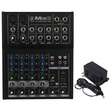 Mackie Mix8 8 Channel Compact Mixer Constructed With a Durable Metal Chasis