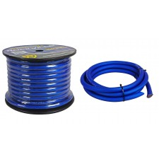 Rockville R0G100 BLUE 0 Gauge AWG 100 Foot Spool Car Amp Power/Ground Wire Cable
