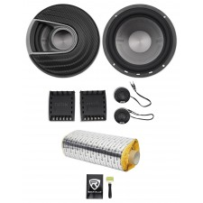 "Polk Audio MM6502 6.5"" 750w Component Car/Marine/ATV/Motorcycle Speakers+Rockmat"