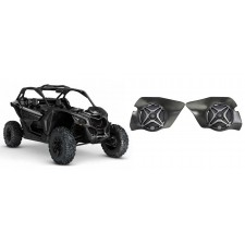 """6.5"""" SSV Speakers for Can-Am Maverick X3 All-Years+Front Kick Panel Pods"""