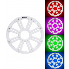 """KICKER 45KMG10W 10"""" White Grille w/ LED For KM10 And KMF10 Subwoofer Subs KMG10W"""