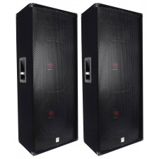 "(2) Rockville RSG15.28 Dual 15"" 3000 Watt 3-Way 8-Ohm Passive DJ / PA Speaker"