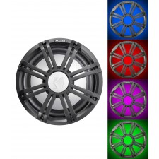 "KICKER 45KMF104 10"" Free Air Marine Subwoofer Sub KMF10+Charcoal Grille w/LED's"