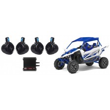 """Yamaha YXZ (4) 8"""" Rollbar Roll Cage Tower Speakers+MTX 4-Channel Amplifier"""