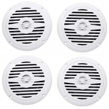 "(4) Rockville MS525W 5.25"" 800 Watt Waterproof Marine Boat Speakers 2-Way White"
