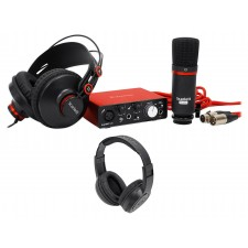 Focusrite SCARLETT SOLO STUDIO MK2 192KHz Audio Interface+Mic+(2) Headphones