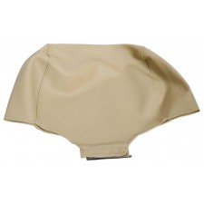 """Pair Beige/Tan 9"""" Anti-Theft Faux Leather Headrest Monitor Cover"""