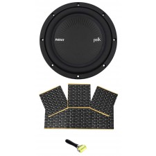 "Polk Audio MM842SVC 8"" 900 Watt SVC 4-Ohm Car/Marine Audio Subwoofer Sub+Rockmat"