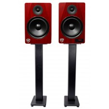 """Rockville HTS8C 8"""" 1000W Powered Home Theater Speakers w/Bluetooth/FM/USB+Stands"""