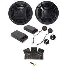 "Polk Audio DB6502 6.5"" 600 Watt Component Car/ATV/Motorcycle Speakers + Rockmat"