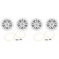 "(4) Boss Audio MR6W 6.5"" 360 Watt Dual Cone White Marine/Boat Speakers"