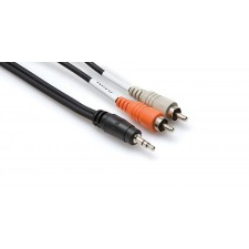"""New Hosa CMR-210 10 Foot 3.5mm (1/8"""") TRS to Dual RCA Cable"""
