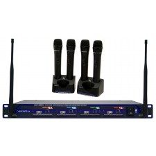 Vocopro UHF-5805-4 Rechargable Wireless 4-Channel Handheld Microphone Sys