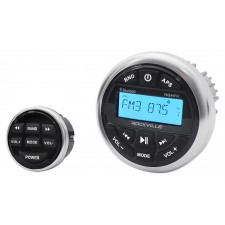 Rockville RGHR2 Waterproof Gauge Hole Hot Tub Stereo Receiver w Bluetooth+Remote