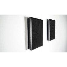 Pair Rockville RockSlim Black Front+Rear Surround Sound Shallow On-Wall Speakers