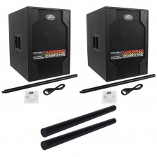"""(2) Peavey PVXp Sub 850W Powered 15"""" DJ Subwoofers+ (2) Subwoofer Mounting Poles"""