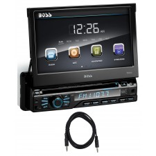 "Boss Audio BV9967B 1-Din 7"" In-Dash Car Bluetooth DVD Receiver USB/SD/AUX+Cable"