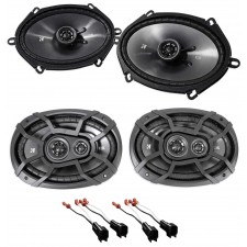 2003-2011 Lincoln Town Car Front+Rear Kicker Speaker Replacement Kit