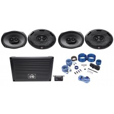 "MTX XTHUNDER800.5 800 Watt RMS 5-Channel Amplifier+(4) 6x9"" MTX Thunder Speakers"