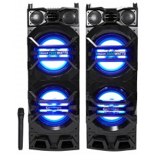 "Technical Pro Dual 10"" 3000w Home Theater Bluetooth Speakers w/USB/SD/LED+Mic"