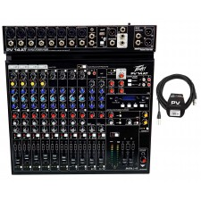 Peavey PV 14AT PV14AT Mixer,8 mic in,USB,Compressor/FX+Bluetooth+AutoTune+Cable