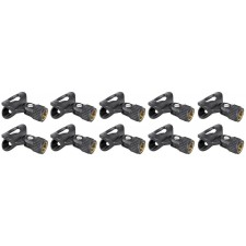 10 Rockville Universal Microphone Clips Fit SM57/SM58 or any Standard Microphone