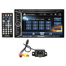 "Farenheit TI-623B 2 Din In-Dash 6.2"" Car Monitor DVD/SD/USB w/ Bluetooth+Camera"