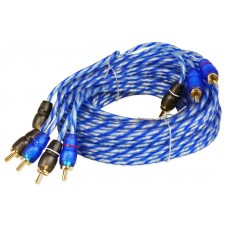 Rockville RTR124 12 Foot 4 Channel Twisted Pair RCA Cable Split Pin, 100% Copper