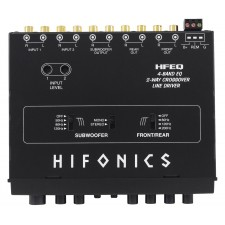Hifonics HFEQ 1/2 Din 4-Band Equalizer with 9-Volt Line-Driver Signal Processor