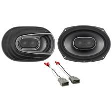 2003-2007 Honda Accord Rear Polk Audio Speaker Replacement Kit+Harness