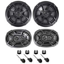 2001 Chrysler Sebring Kicker Front + Rear Factory Speaker Replacement Kit