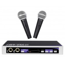 Vocopro HD-OKE Karaoke Dual Microphone Mic Mixer For Home Theater System