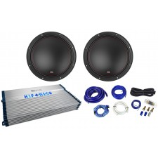 "(2) MTX 7512-44 12"" 3000w Car Audio Subwoofers Subs+Hifonics Amplifier+Amp Kit"
