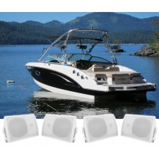 """(4) Rockville HP5S 5.25"""" Marine Box Speakers with Swivel Bracket For Boats"""