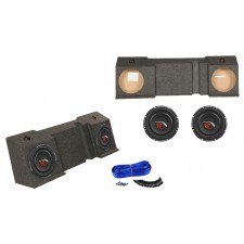 """Dual 10"""" Sub Box+(2) Subwoofers For 2001-16 Chevy Avalanche or Cadillac Escalade"""