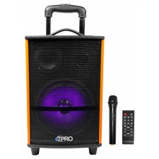 Technical Pro WASP810H Rechargeable Portable Bluetooth Speaker+LED's+Microphone