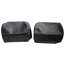"Pair Black 7"" Anti-Theft Faux Leather Headrest Monitor Cover"