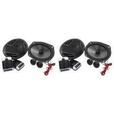 """(2) Pairs Rockville RV69.2C 6x9"""" Component Car Speakers 2000w/440w RMS CEA Rated"""
