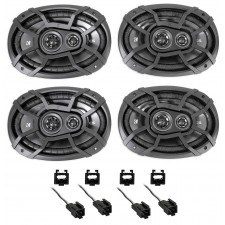 "1996-2006 Chrysler Sebring Kicker 6x9"" Front+Rear Speaker Replacement Kit"