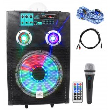 "NYC Acoustics Active 12"" Karaoke Machine/System 4 ipad/iphone/Android/Laptop/TV"