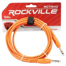 12 Rockville 10' 1/4'' TRS to 1/4'' TRS Cable 100% Copper (6 Colors x 2 of Each)