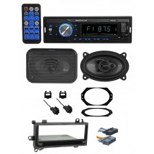 "97-02 JEEP WRANGLER TJ Car Digital Media Receiver+Front 4x6"" Speakers+Wire Kits"