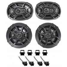 1995-1999 Chevrolet Chevy Monte Carlo Kicker Front+Rear Speaker Replacement Kit
