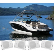 """(4) Rockville HP5S-8 5.25"""" Marine Box Speakers with Swivel Bracket For Boats"""